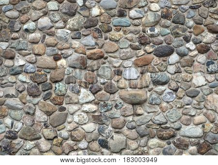 stone and concrete wall color rocks fieldstone texture background