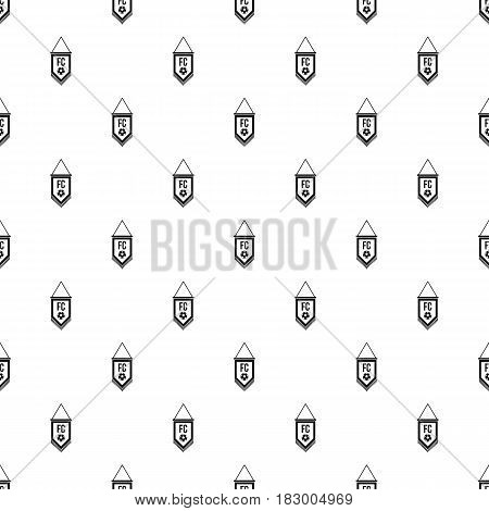 Pennant with soccer ball pattern seamless in simple style vector illustration