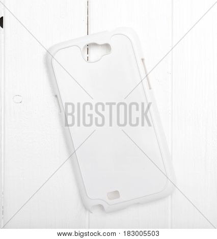 pure white phone case for printing nice solid material, topview