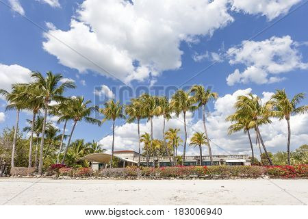 Beach in Coral Gables. Miami,  Florida United States