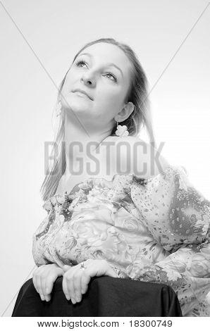 Beauty Portrait Of A Blond Girl