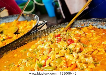 Chicken Korma A Popular Sweet Indian Curry Dish Of Coconut And Cream Sauce