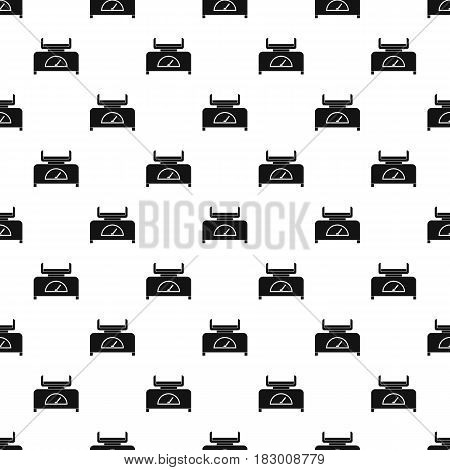 Weight scale pattern seamless in simple style vector illustration