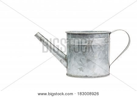Isolated Zinc Watering Can On White