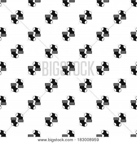 Baby socks pattern seamless in simple style vector illustration