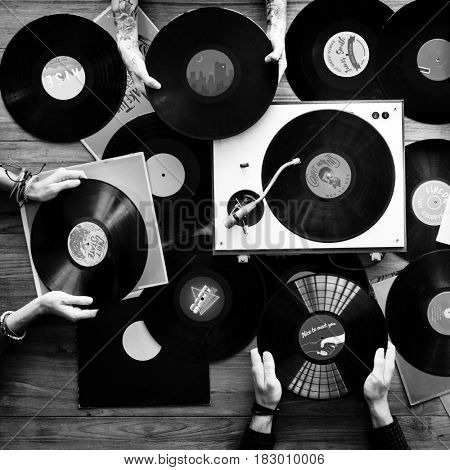 Music Record Disc with Player