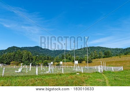 Russia Siberia. Old weather station in Gorny Altai Yaylu settlement