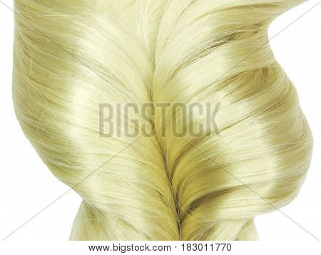 blond hair coiffure isolated on white background