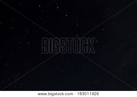 Great Bear on the sky full of stars with a little clouds with Transfer effect