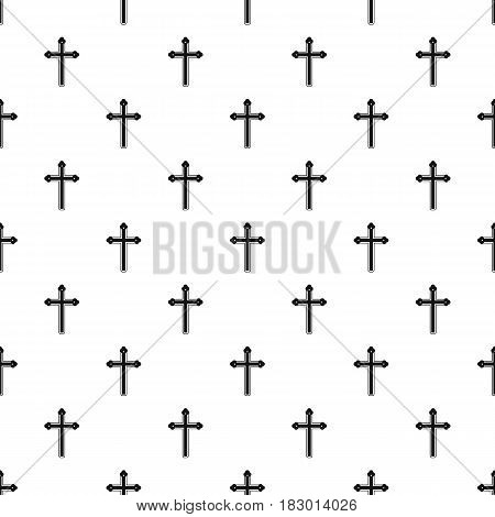 Holy cross pattern seamless in simple style vector illustration