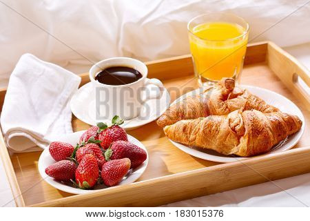 Breakfast Tray Served In Bed