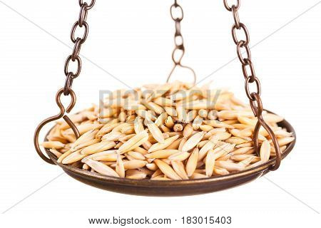 Oat In Old Balance Scale