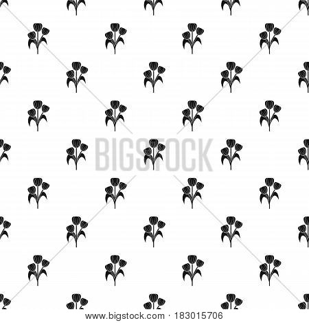 Flowers pattern seamless in simple style vector illustration