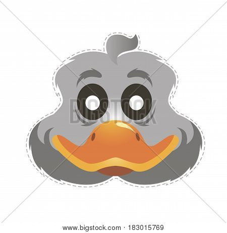 duck mask for children's masquerade vector illustration