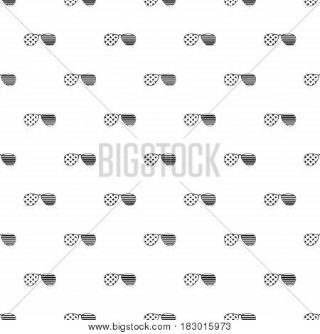 American glasses pattern seamless in simple style vector illustration