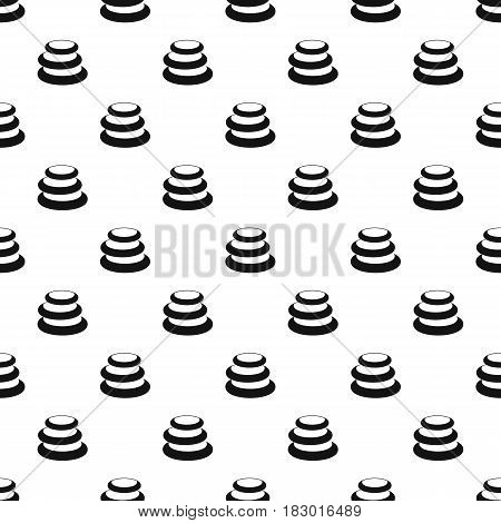 Stack of basalt balancing stones pattern seamless in simple style vector illustration