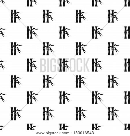 Bamboo stems pattern seamless in simple style vector illustration