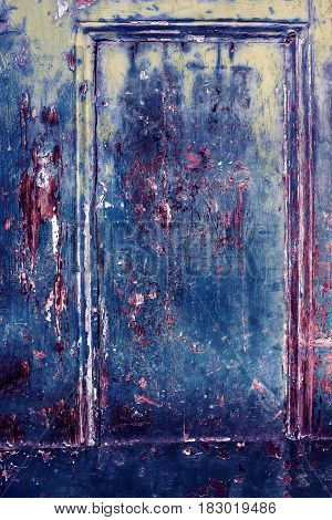 Colorful Grunge retro vintage wooden textured surface old door