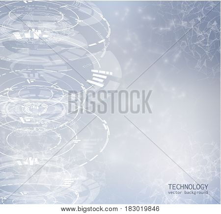 Abstract background with technology shapes. Vector eps10.