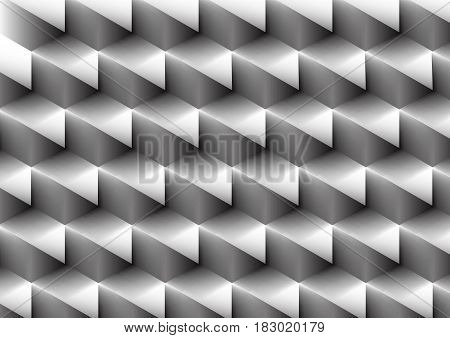 Abstract black and white geometric repeating pattern background