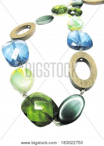 bright colored beads isolated on white background