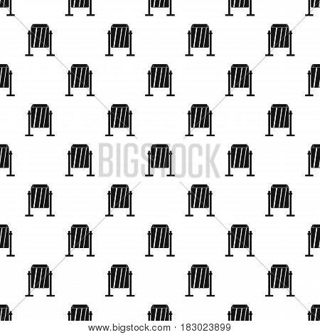 Metal dust bin pattern seamless in simple style vector illustration