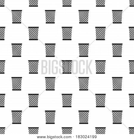 Wastepaper basket pattern seamless in simple style vector illustration