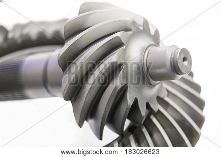 New auto parts for cars on a white background