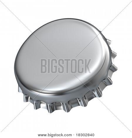 Metallic bottle cap - 3d render