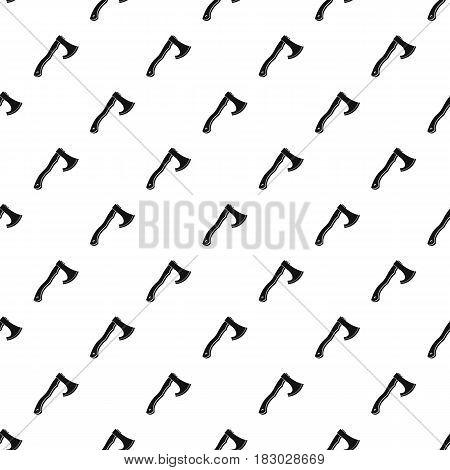 Hatchet pattern seamless in simple style vector illustration