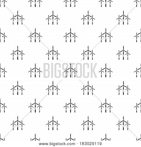 Wind generator turbines pattern seamless in simple style vector illustration