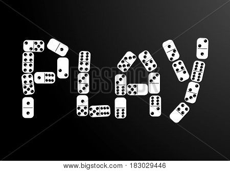 The represent of Play with domino bones.vector
