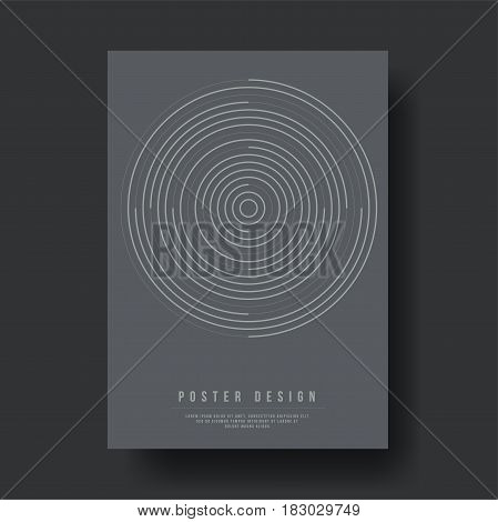 Abstract Geometric Circle Cover Design - Vector illustration template