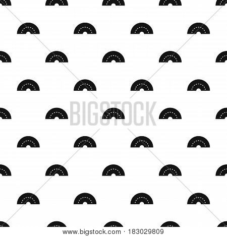 Round turning road pattern seamless in simple style vector illustration