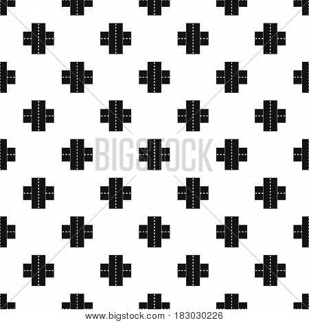 Two roads pattern seamless in simple style vector illustration