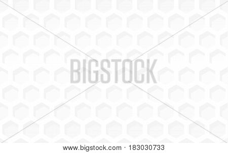 Abstract background with white shapes. gray honeycomb hexagon neutral backdrop. Vector illustration art
