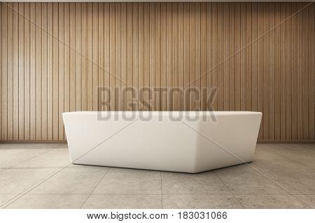 Reception or check-in design modern & loft - 3D render