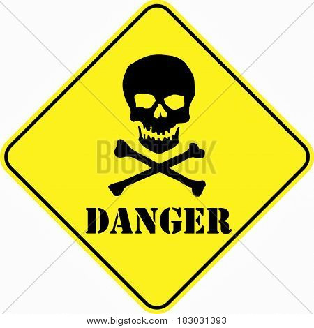 attention alert danger mortal symbol sign logo yellow safety