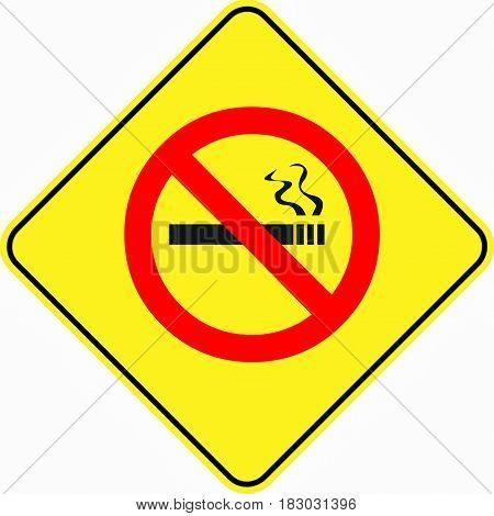 attention alert no smoking symbol sign logo yellow