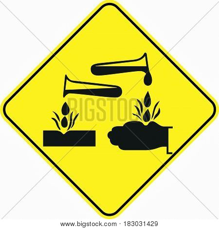 dangrous corrosive substance symbol sign logo yellow safety
