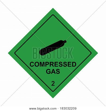 Compressed gas sign vector design isolated on white background