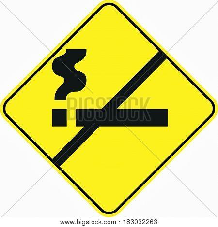 no smoking prohibit symbol sign logo yellow safety