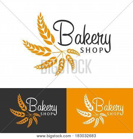 Bakery Shop Emblem, Labels, Logo And Design Elements. Fresh Bread And Wheat. Vector Illustration.