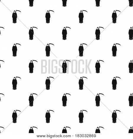 Death with scythe pattern seamless in simple style vector illustration