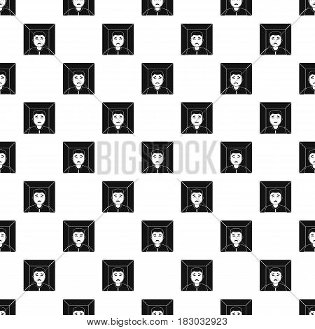 Man pattern seamless in simple style vector illustration