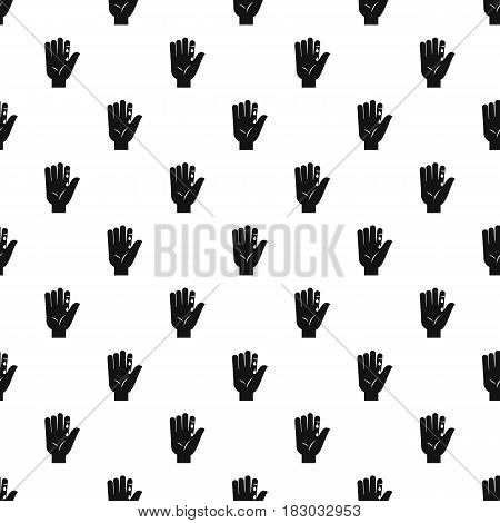 Finger with blood dripping pattern seamless in simple style vector illustration