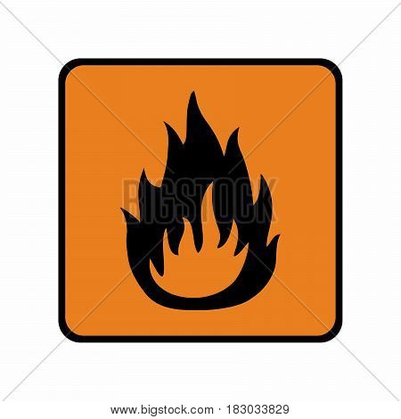 Flammable material sign vector design . ISO 7010 Warning symbol.
