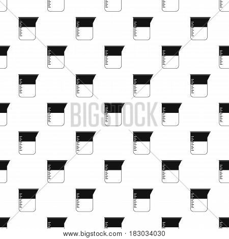 Measuring cup pattern seamless in simple style vector illustration
