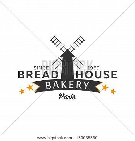 Bakery Shop Emblem, Labels, Logo And Design Elements. Fresh Bread. Vector Illustration.