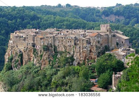 Calcata medieval village in the province of Viterbo in Italy